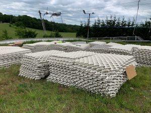 First delivery of mats!